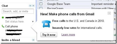 Google free call service to the sus and UK