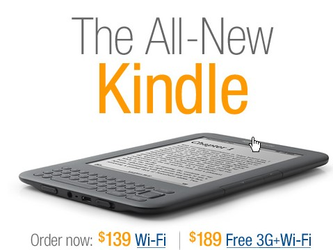 all new kindle 3f wifi 139 and 189