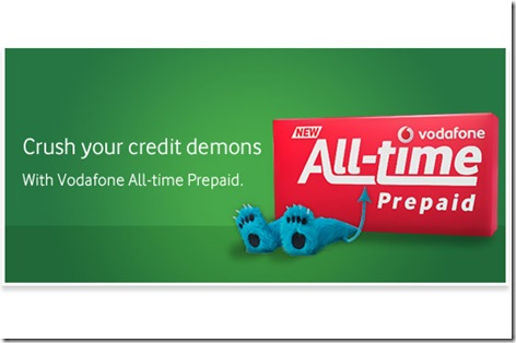vodafone all time pre paid plan infinite plan