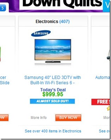 Samsung 40' LED 3DTV with Built-In Wi-Fi Series 6 - todays Deal