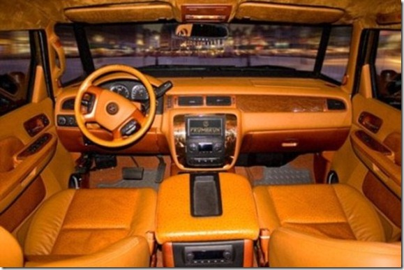Photo: Dartz Motorz via Oscar Kornyei<br /><br /> Ph: 077 3000 4515</p><br /> <p>An interior view of the world's most expensive and fastest armoured SUV: the Dartz Prombon Aladeen Edition - which is featured in 'The Dictator'. Three of the cars feature in Sacha Baron Cohen's (who plays General Aladeen) motorcade.