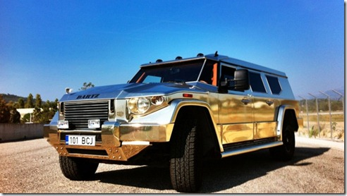 dartz aladeen edition prombron gold luxury armoured vehicle