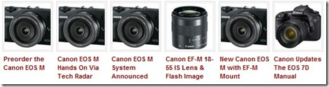 Canon EOS M that launch leak specifications