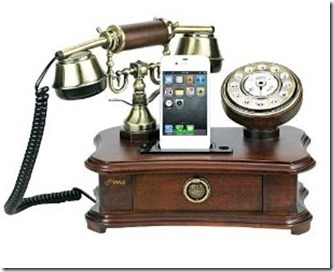 Pyle PRT35I Retro Home Telephone with Charger for iPhoneiPod