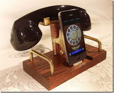 Retro Telephone Bluetooth Headset with bluetooth charger