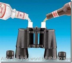 alochol binoculars