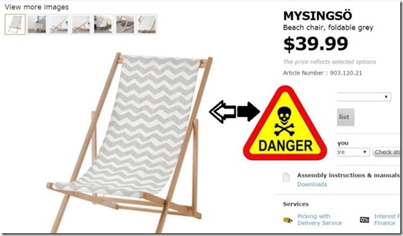 mysingo ikea beach chairs recalled refund